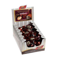 austiNuts carries Turin-Grand Marnier Filled Singles to help you complete your perfect gift basket, care package, or if you are looking for individually foil wrapped Grand Marnier filled dark chocolates.  Within the centre of each rich indulgent chocolate is a sweet liquid flavoured with Grand Marnier (cognac and orange) flavoured liqueur.
