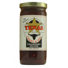 austiNuts carries Taste of the Southwest Sweet & Hot Cranberry Relish to help you complete your perfect gift basket, care package, or if you are looking for a great quality Texas product.