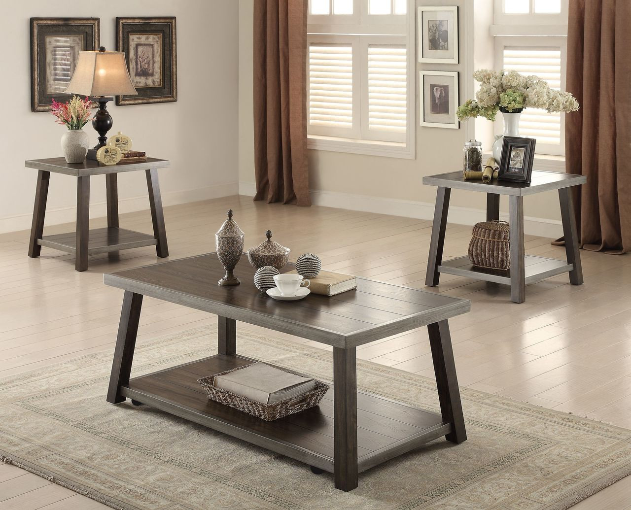 Miles 3pc Coffee Table Set Clearinghouse Furniture