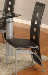 Black Metro Chair, pack 2 per box