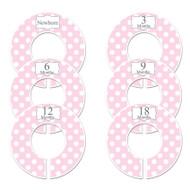 Pink Polka Dots baby closet dividers