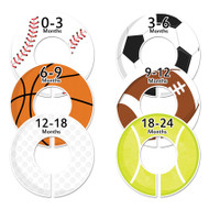 Sports boy baby closet dividers