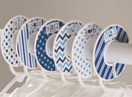 Blue Nautical baby closet dividers