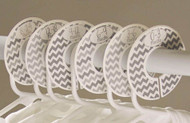 Gray Chevron baby closet dividers