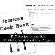 White Chalkboard Printable Recipe Kit