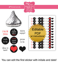 Engaged Printable Candy Stickers