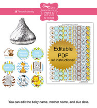 Jungle Animals Printable Candy Stickers