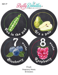 Fruit 40 Weekly Pregnancy Stickers