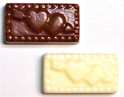 "Sugar Free Chocolate ""Hearts w/Cupid's Arrow"" .3 oz, individually wrapped"