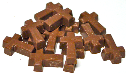 Sugar Free Chocolate Petite Crosses (1.25 x .75 inch) 13 pcs per bag, 1.3 oz