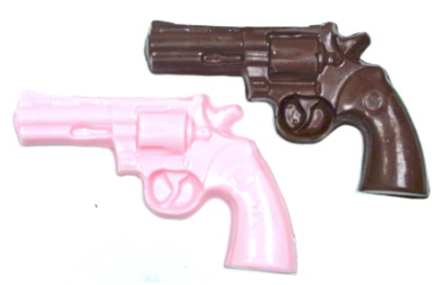 Sugar Free Chocolate Revolver, 1.3 oz ea, 4.25 inch wide, ind. wrapped. Set of 4
