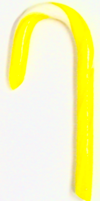 "Diabeticfriendly's Sugar Free BANANA Candy Cane 5"" -  Handmade in USA, SINGLE CANE, Uses isomalt, Individually wrapped"