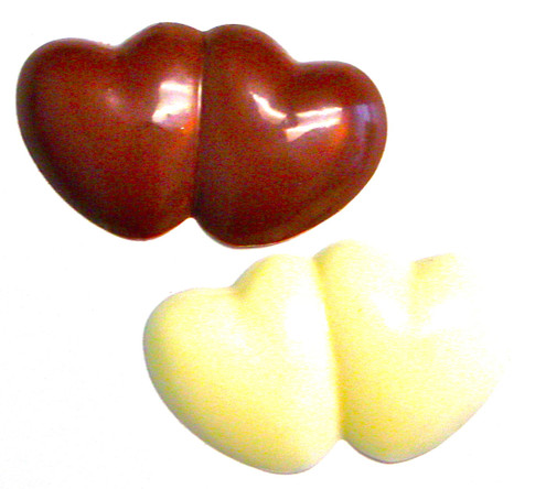 Sugar Free Chocolate Double Hearts, .7 oz, individually wrapped
