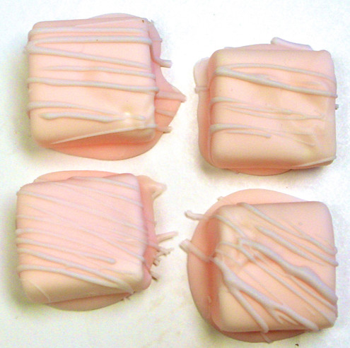 Sugar Free Chocolate Covered Marshmallows, Mother's Day Colors, Set of 4, Acetate Bagged w/bow 2.2 oz