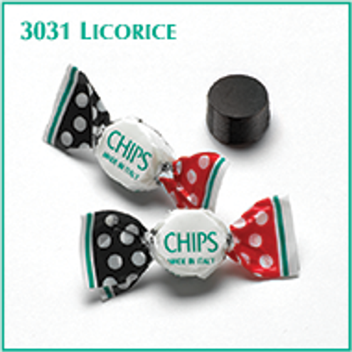 Licorice CHIPS (SUGAR) lightly mentholated miniature pastilles (bulk bag) By the pound
