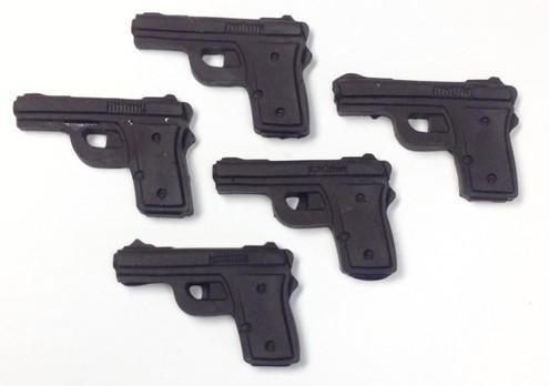Sugar Free Chocolate Semi-Automatic Pistols (set of 5) (  .7 oz each)