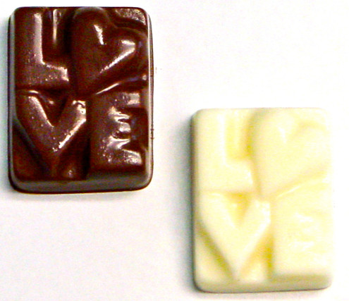 """Love"" Chocolates, Sugar Free Valentines Day Squares, .3 oz, individually wrapped"