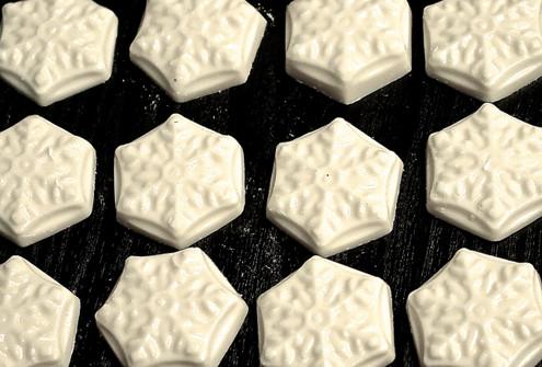 Sugar Free White Chocolate Snowflakes