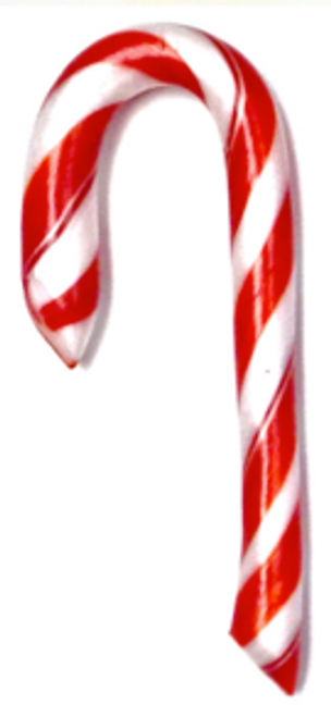 "Traditional Christmas Peppermint Candy Cane 5""  (Sugar Free) -  Handmade in America in Diabeticfriendly's Candy Kitchen"