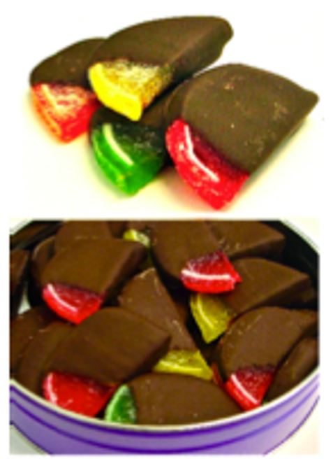 Sugar Free Hand Dipped Fruit Slices in Gift Tin