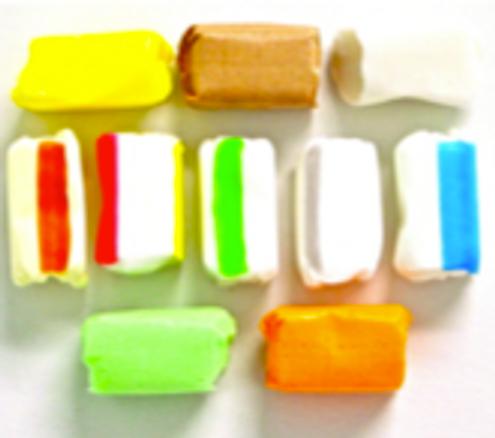 Salt Water Taffy, Sugar Free, Spearmint, Cinnamon, Chocolate, Vanilla, Lime, Peppermint, Licorice, Orange
