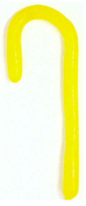 """Diabeticfriendly's Sugar Free SOUR LEMON """"the Solids"""" Candy Cane 5"""" -  Handmade in USA, SINGLE CANE, Uses isomalt, Individually wrapped, perfect to hang on tree."""