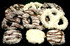 """Chocolate Dipped Coconut Covered Pretzels (12 ea), 6 """"Bites"""", Gift Boxed"""