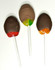 Hand Dipped Sugar Free Chocolate Lollipops, Dark Chocolate Cinnamon, Milk Chocolate Banana & Dark Chocolate Orange, Set of 6