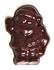 Sugar Free Dark Chocolate Santas, .4 oz each - Set of 4 (individually wrapped)