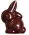 3 inch Sitting Easter Rabbit Sugar Free Chocolate, Individually Wrapped, 1 oz.