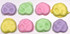 Sugar Free Mini Pretzels, in Easter Pastel Colors, set of 8 in acetate bag with bow 4oz