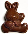 2 inch tall Sitting Easter Bunny w/Carrot, Sugar Free Chocolate (.6 oz), individually wrapped