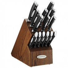 Scanpan Classic Knife Block Set 15 Piece Dark Oak