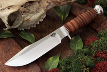 Bark River Special Hunting Knife - stacked leather