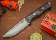 Bravo-1 - USMC Knife - Black Blue Maple Burl - Rampless
