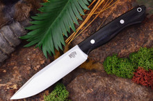Bark RIver Knives - Sahara Hunter Black Canvas Micarta with Red Liners