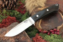 Bark River Classic Drop Point Hunter - Black Canvas Micarta - Elmax