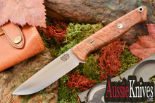 Bark River Knives Gunny Hunter 3V - Jimped - Eucalyptus Burl - Mosaic Pins