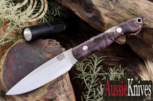 Bark River Knives Kalahari Thorn CPM-154 Dark Purple Gole Maple Burl