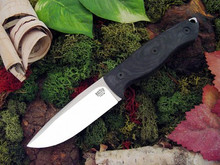Bark River STS-4 Satin Blade - Black Canvas Micarta