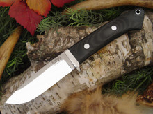 Bark River Drop Point Hunter Black Canvas Micarta