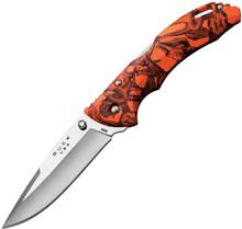 Buck Bantam BHW - Orange Head Hunterz camo handles.