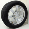 "New Set of 4 Chrome 20"" Eight Spoke Wheels with Goodyear Eagle LS2 Tires for GMC Trucks or SUVs"