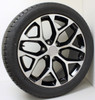 """New Set of 4 Black and Machine 22"""" Snowflake Wheels with Bridgestone Dueler Alenza Tires for Chevy Trucks or SUVs"""
