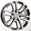 "New Set of 4 Black and Machine 22"" Split Spoke Wheels for GMC Sierra, Yukon, Denali"