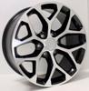 "New Set of 4 Black and Machine 22"" Snowflake Wheels for GMC Sierra, Yukon, Denali"