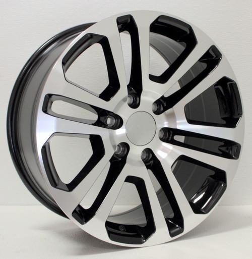 "New Set of 4 Black and Machine 20"" Split Spoke Wheels for Chevy Silverado, Tahoe, Suburban"
