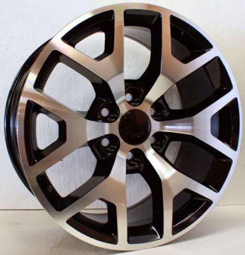 "New Set of 4 Black and Machine 20"" Honeycomb Wheels for Chevy Silverado, Tahoe, Suburban"