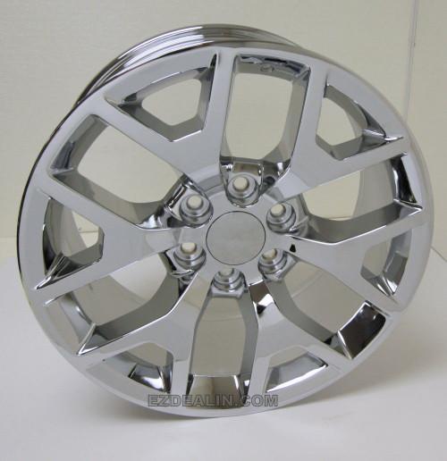 "New Set of 4 Chrome 20"" Honeycomb Wheels for GMC Sierra, Yukon, Denali"