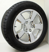 "New Set of Four GMC New Style LTZ Chrome 20"" Wheels With Goodyear Eagle LS2 Tires"
